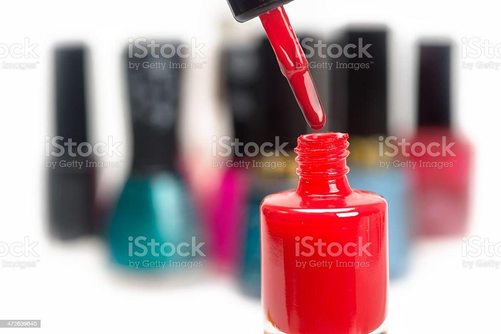 nail polish red stock photo