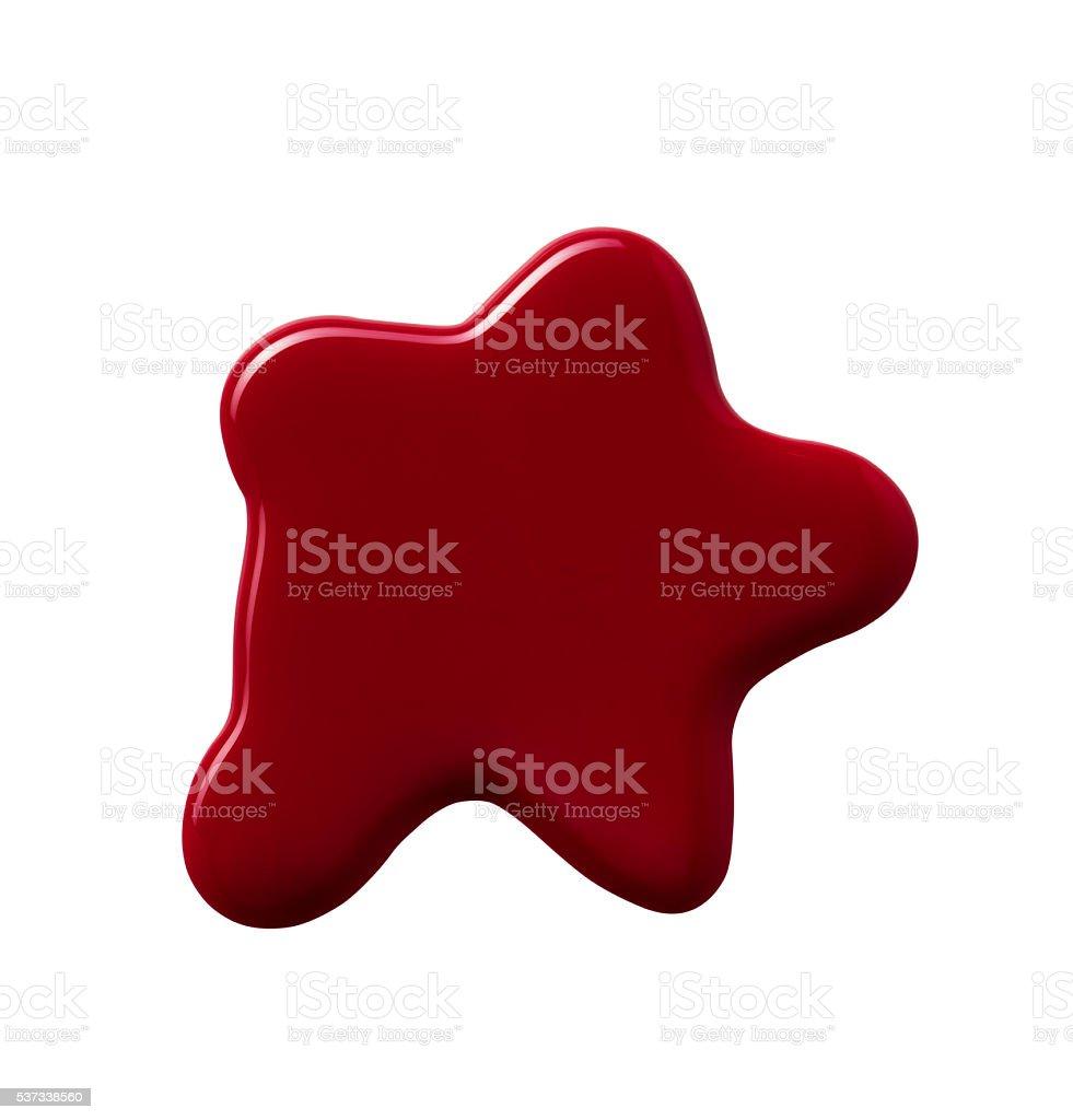 nail polish splatter on a white background stock photo