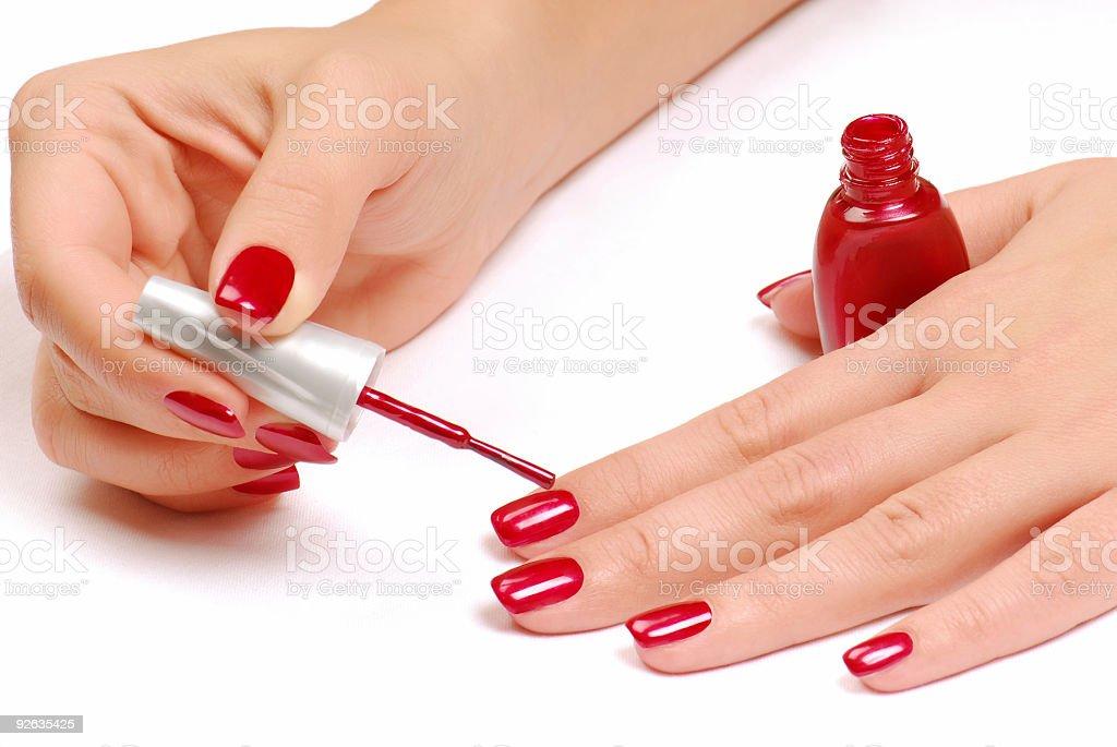 Nail salon. stock photo