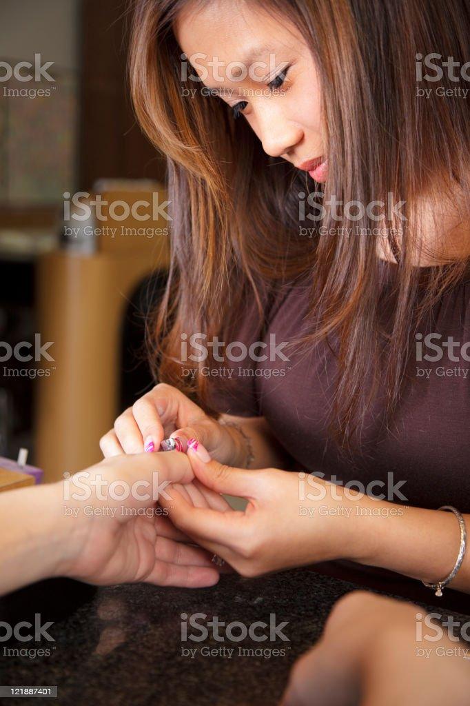 Nail Salon Technician royalty-free stock photo