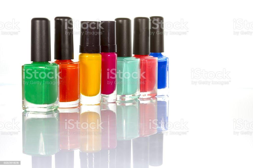 Nail varnish stock photo