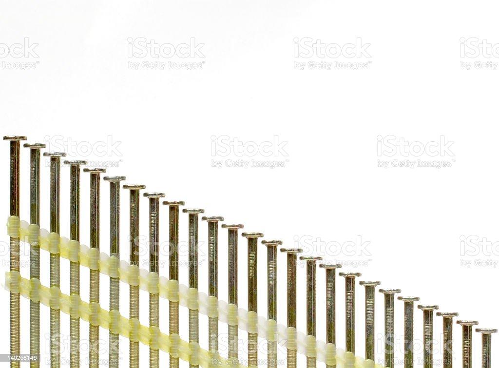 Nailgun Nails stock photo