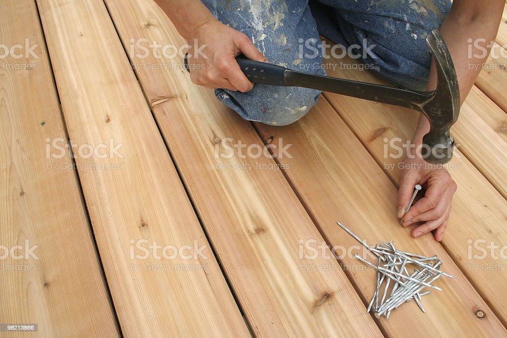 Nailing stock photo