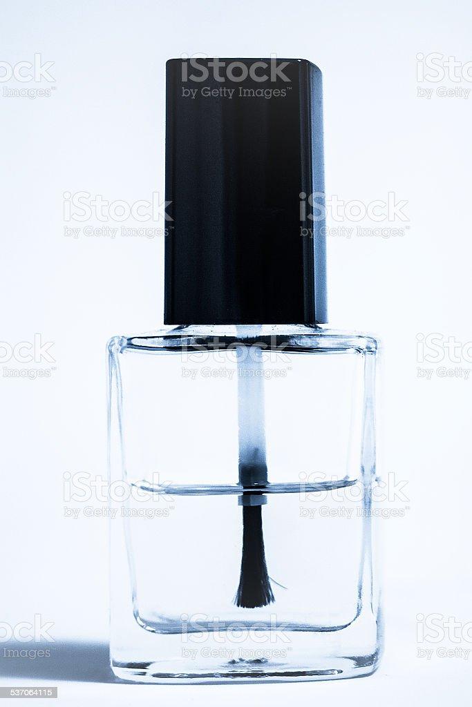 Nailpolish brush with bottle stock photo