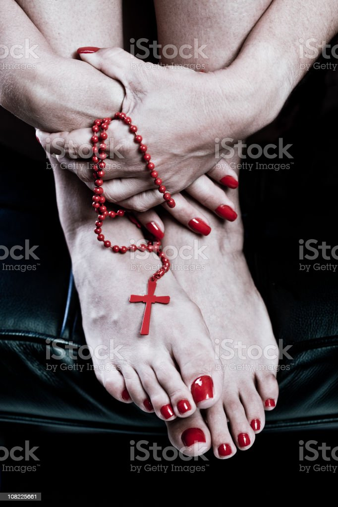 nails and cross royalty-free stock photo