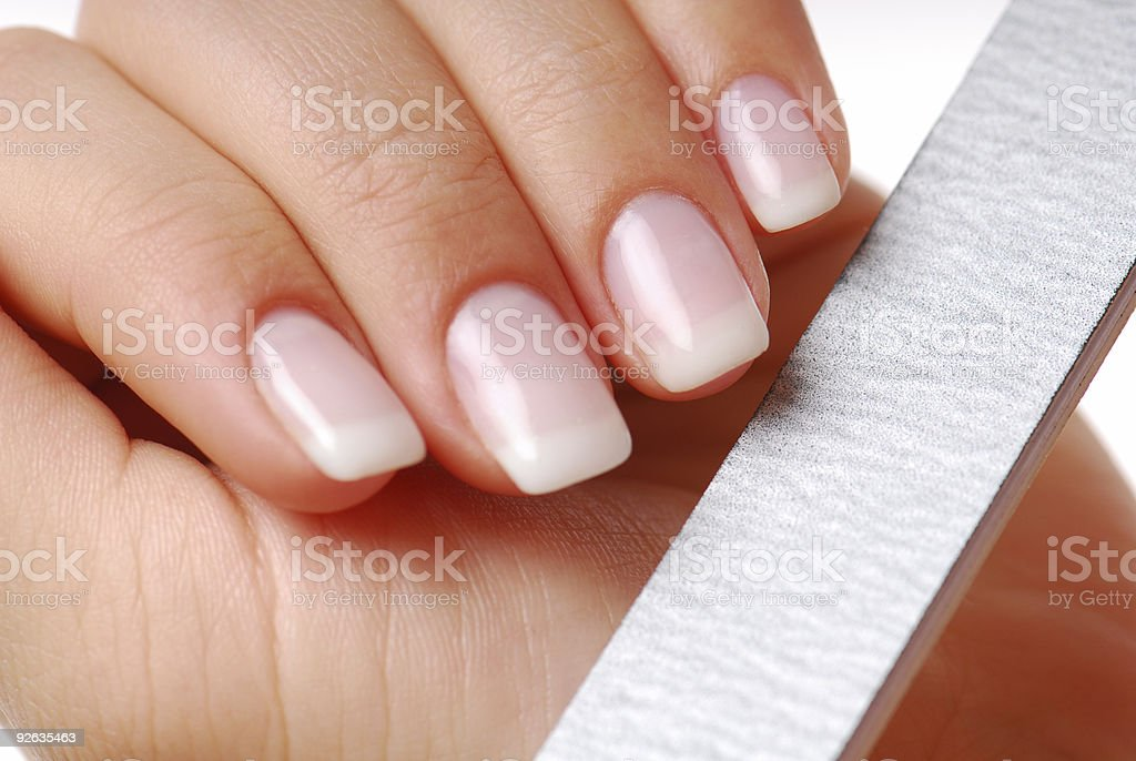 Nails - beauty spa. stock photo