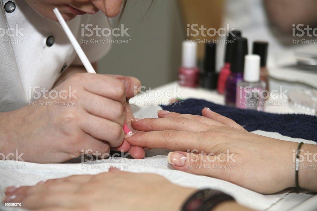 Nails Care Treatment royalty-free stock photo