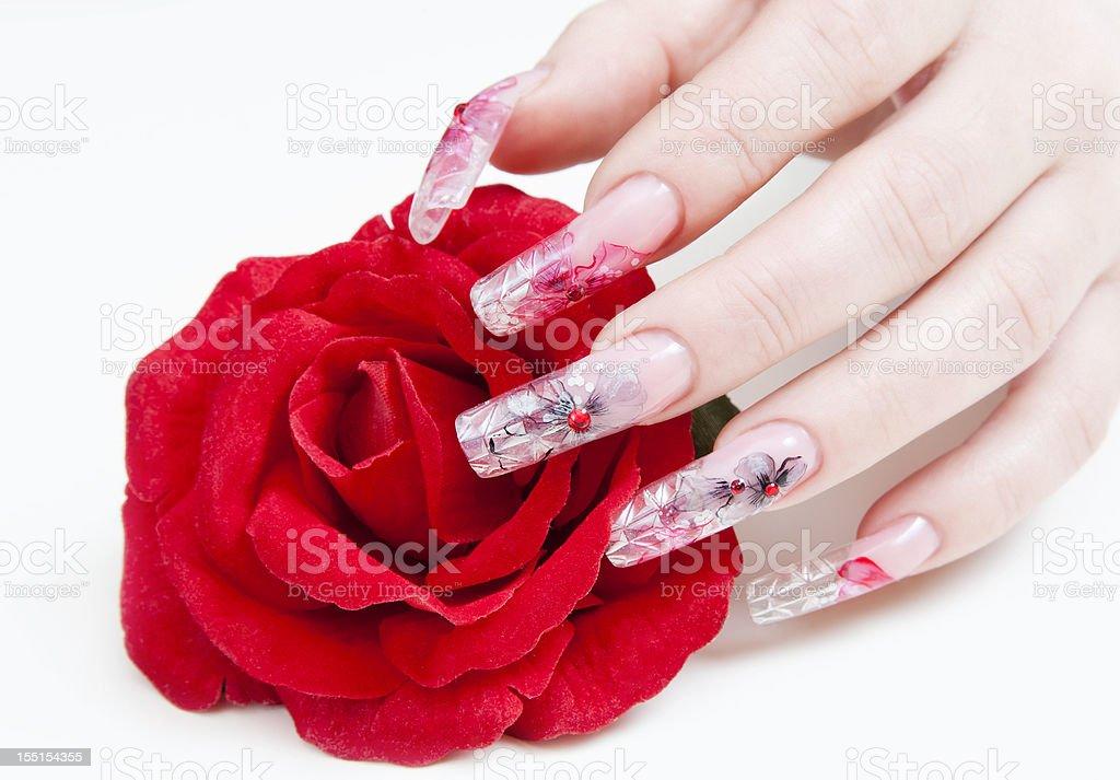Nails Decoration royalty-free stock photo