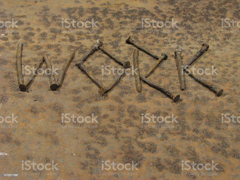 Nails, Iron work royalty-free stock photo