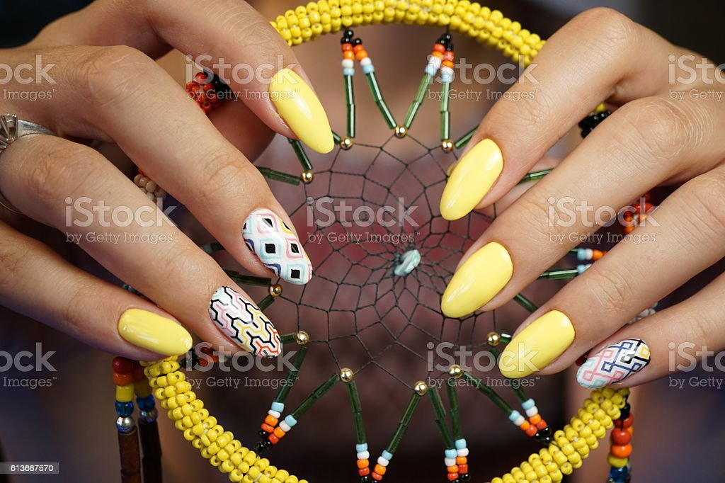 Nails, manicure stock photo