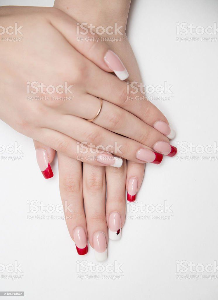 nails, red, nail, manicure, white, hand, care, beauty, isolated,...