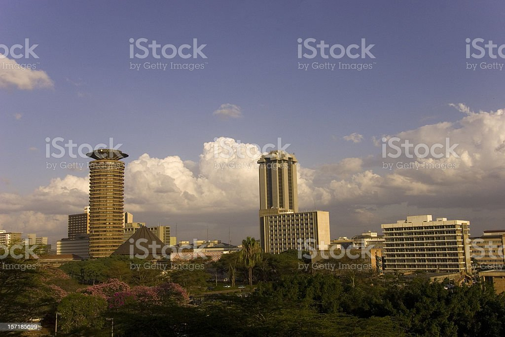 Nairobi city aerial stock photo