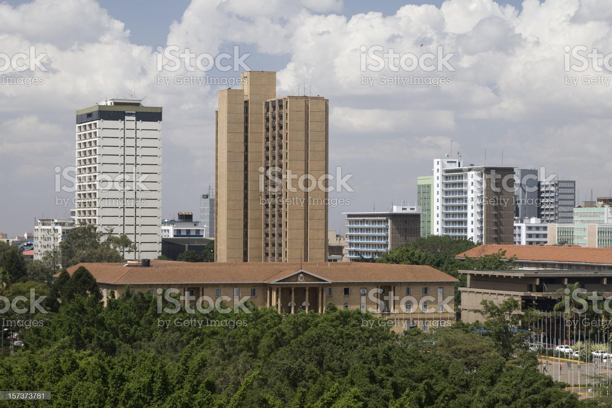 Nairobi city aerial view royalty-free stock photo