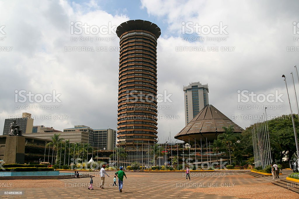 Nairobi city center, Kenya stock photo