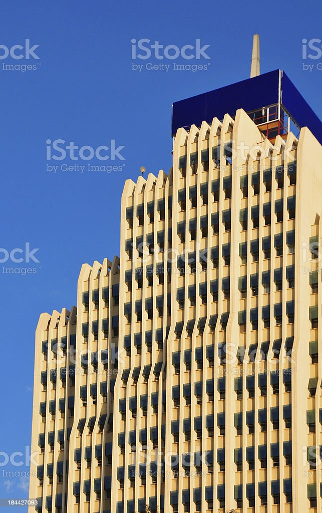 Nairobi, Kenya: building in the Central Business District stock photo