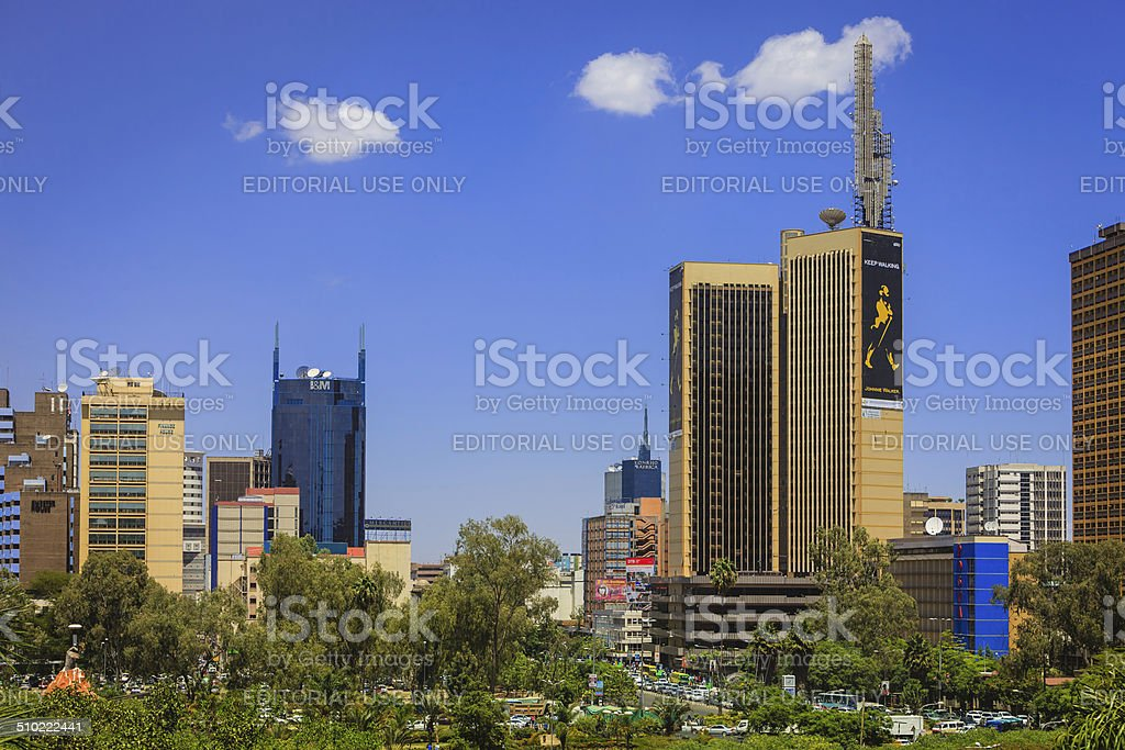 Nairobi, Kenya - Busy downtown Kenyatta Avenue stock photo