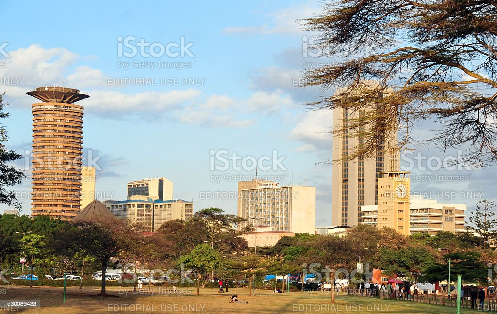 Nairobi skyline, Kenya stock photo