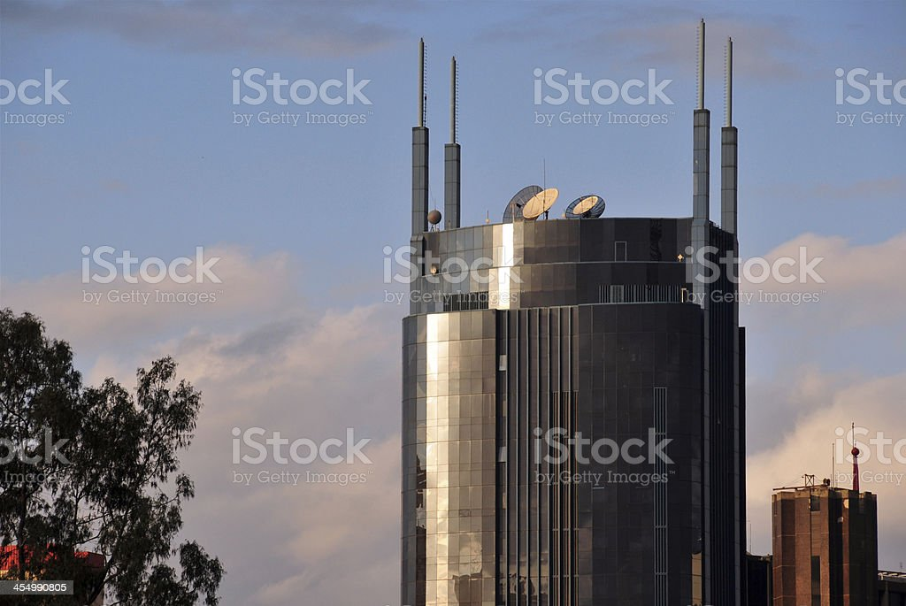 Nairobi skyscraper stock photo
