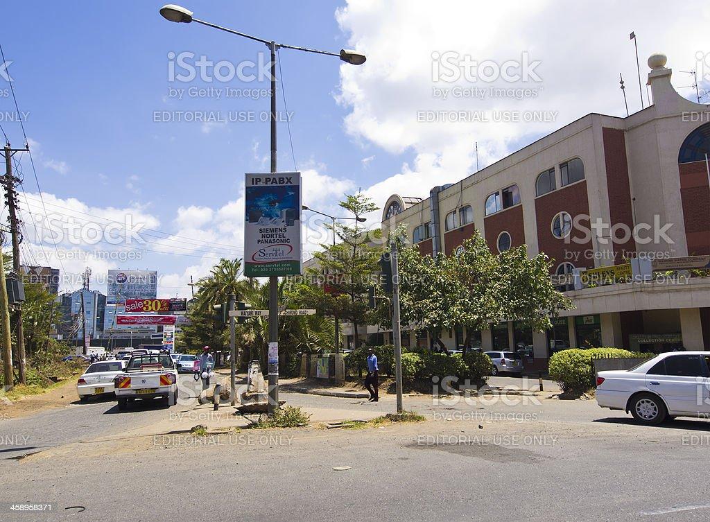 Nairobi street stock photo
