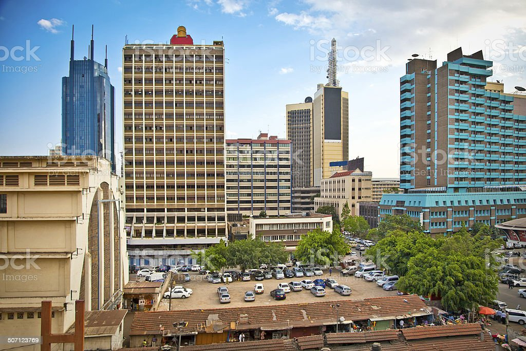 Nairobi, the capital city of Kenya stock photo