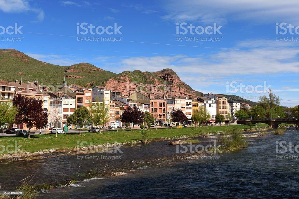 Najerilla River, Najera,La Rioja,Spai stock photo
