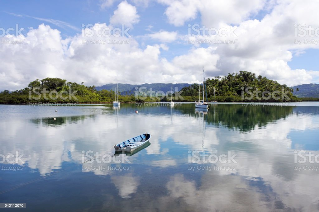 Nakama Creek in Savusavu, Vanua Levu Island, Fiji stock photo