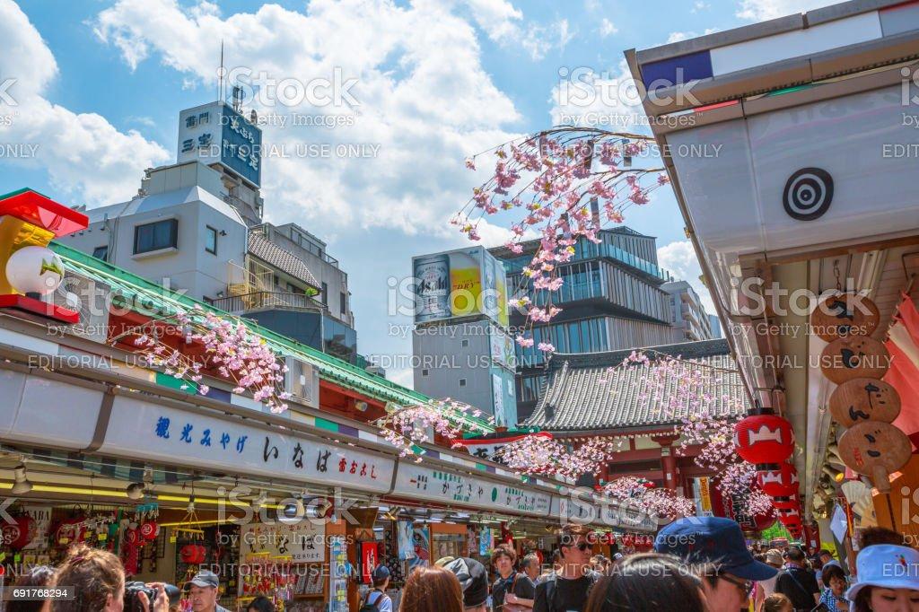Nakamise Dori Senso-ji stock photo