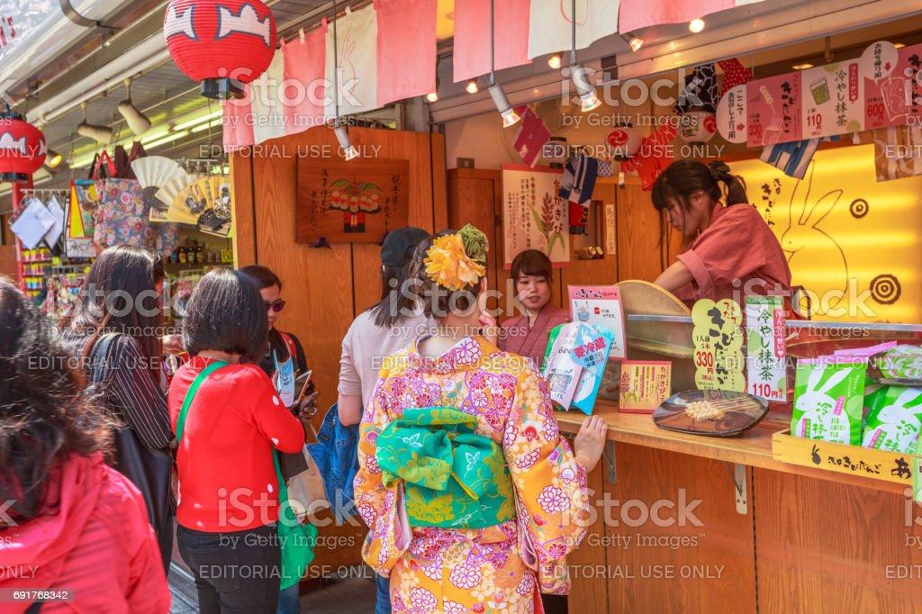 Nakamise-dori Asakusa Tokyo stock photo