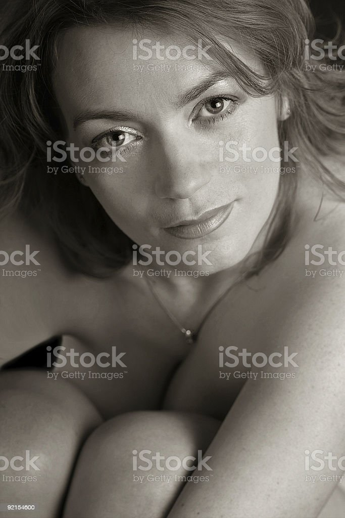 Naked beauty stock photo