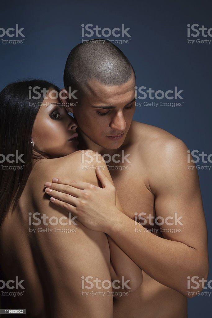Naked couple stock photo