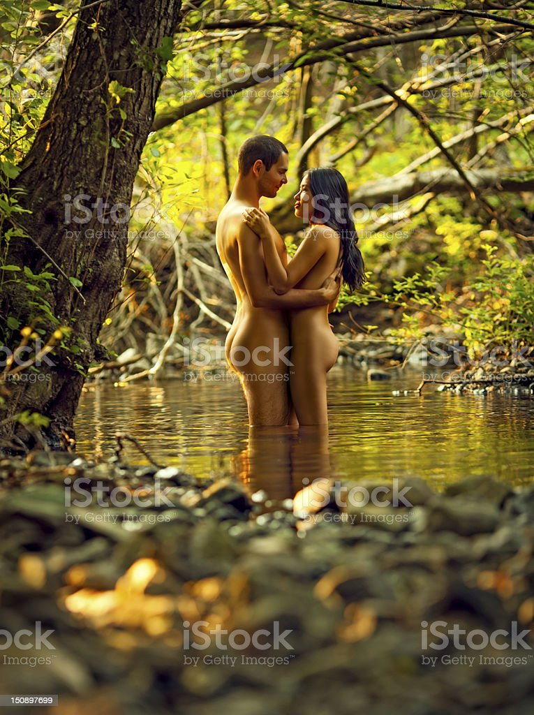 Naked couple royalty-free stock photo