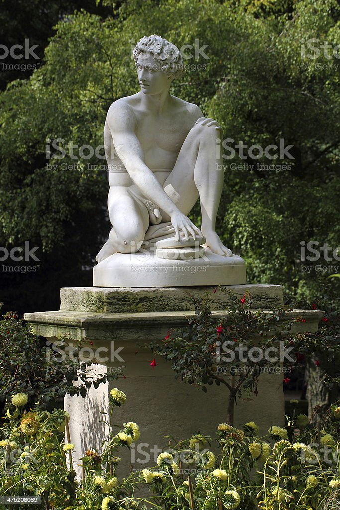Naked Disc Thrower stock photo