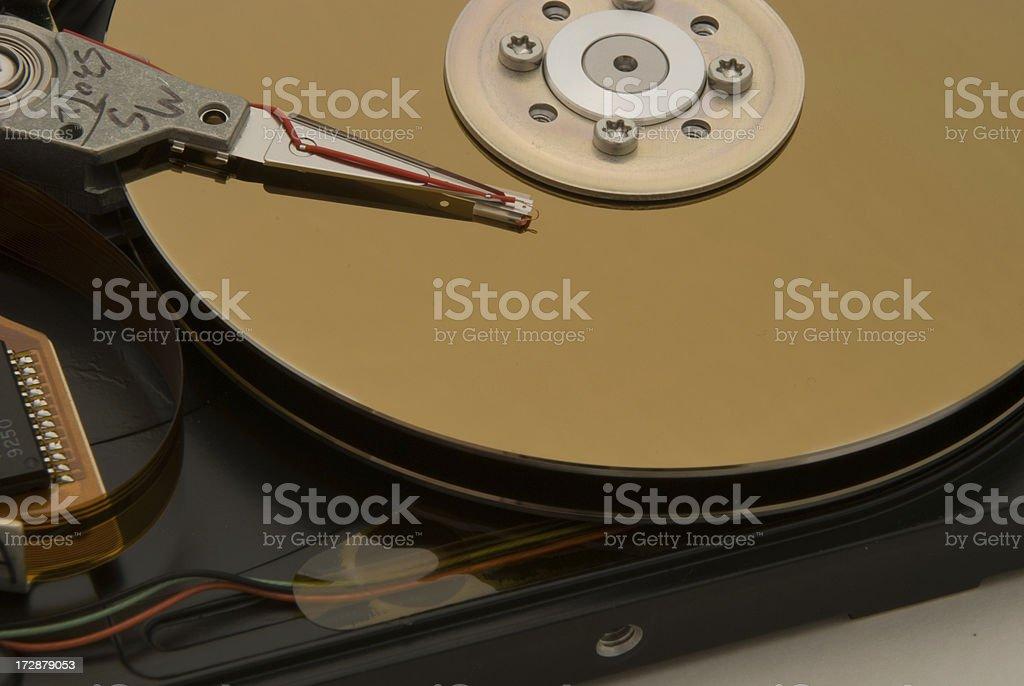 Naked disk drive close  up royalty-free stock photo