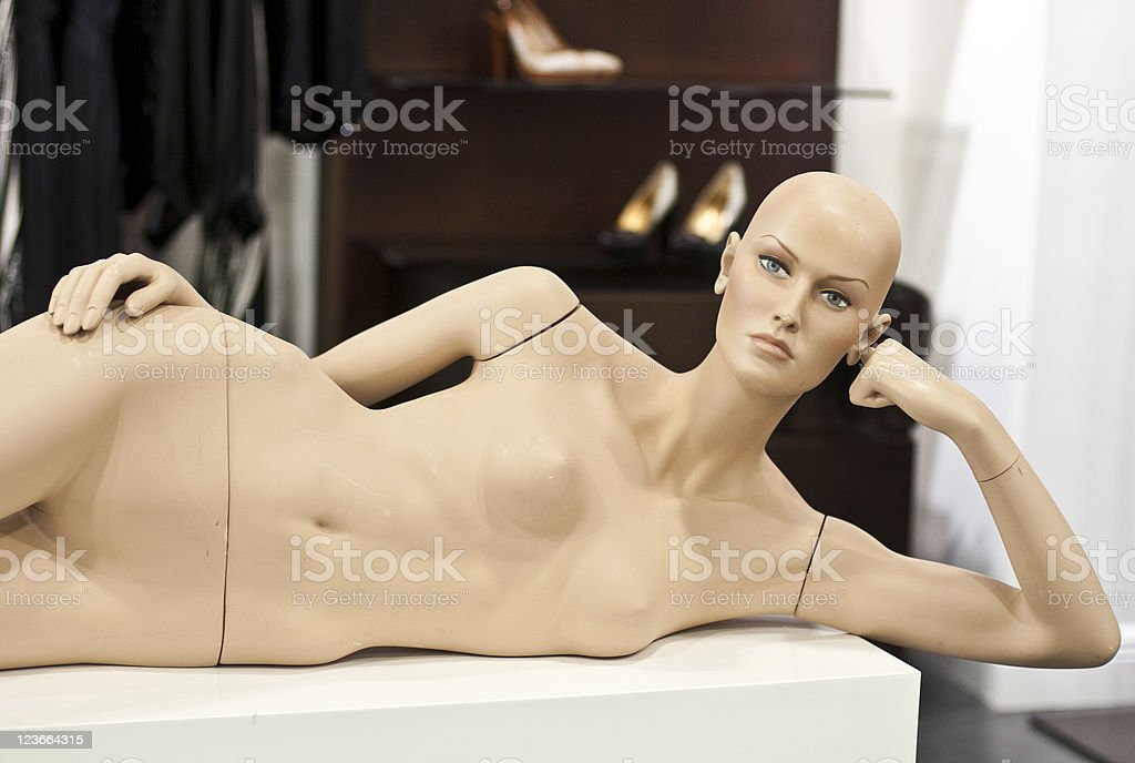 Naked female mannequin royalty-free stock photo