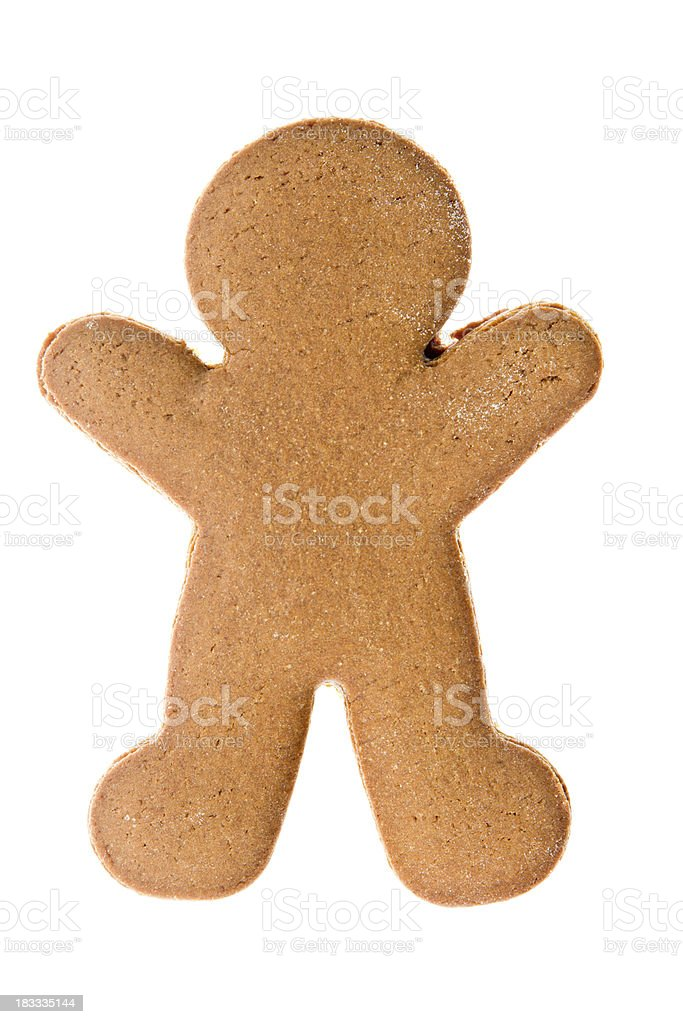 Naked Gingerbread Man Isolated royalty-free stock photo