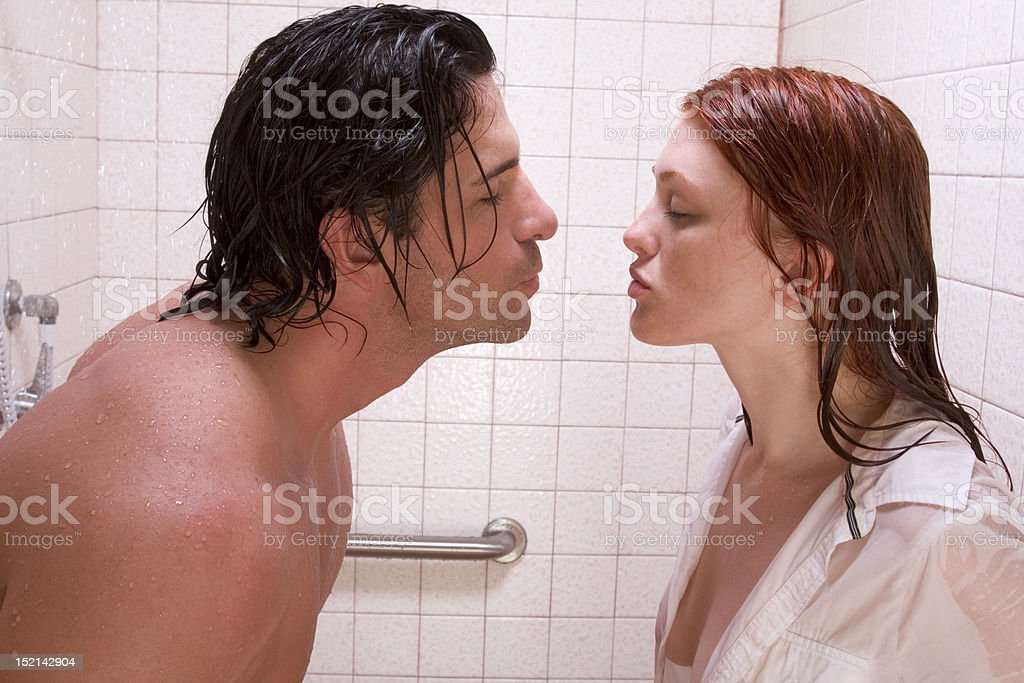 Men and women shower naked