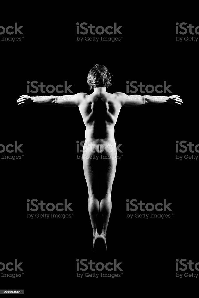 Naked man royalty-free stock photo