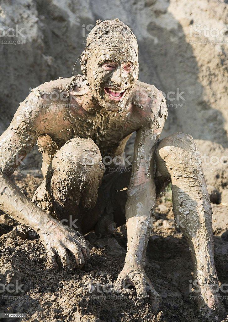 Naked man screaming royalty-free stock photo