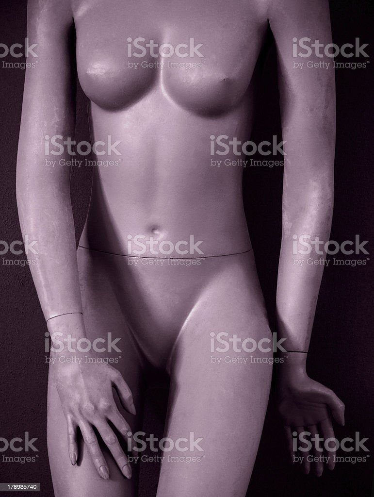 Naked mannequin. royalty-free stock photo