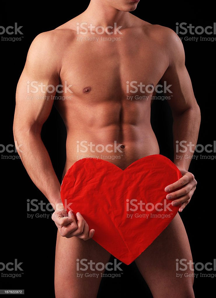 Naked muscular man royalty-free stock photo