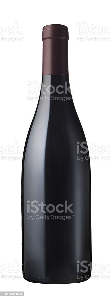 naked red wine bottle royalty-free stock photo