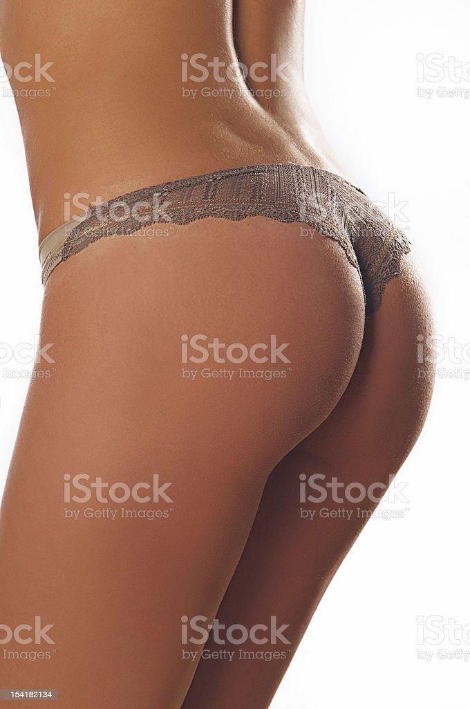 naked woman in a bikini royalty-free stock photo