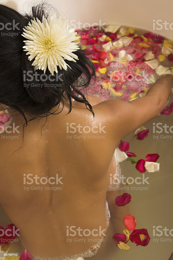 Naked woman in bath royalty-free stock photo
