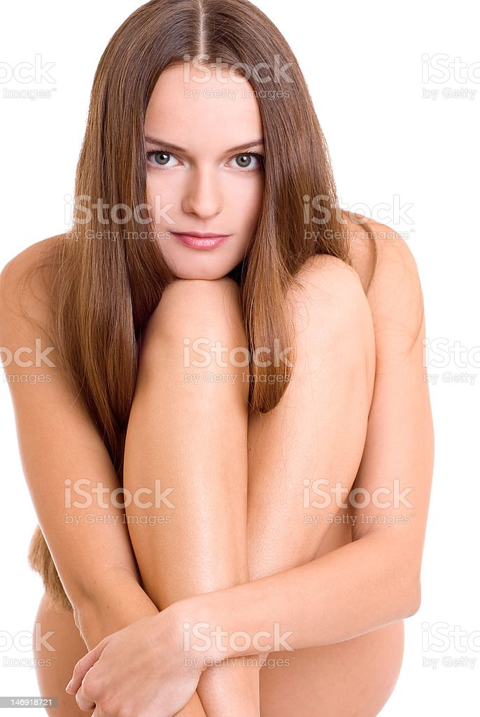 Naked young woman royalty-free stock photo