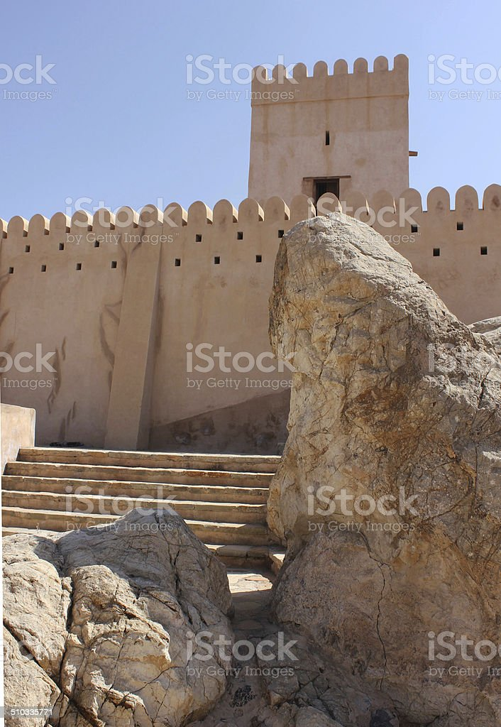 Nakhal Fort, Oman. stock photo