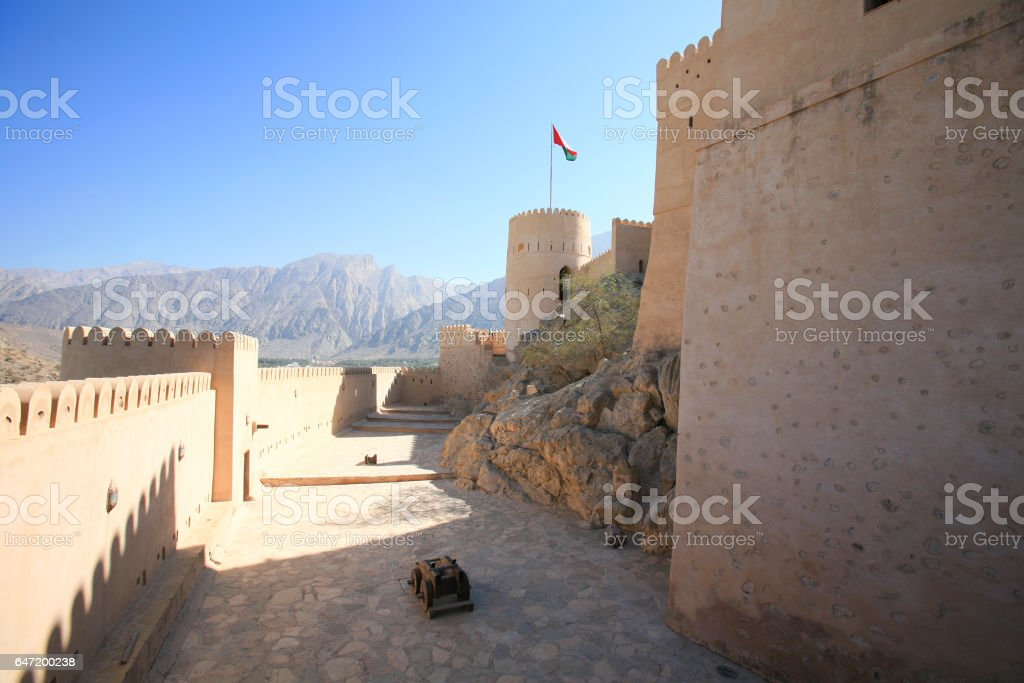 Nakhal Fort, Oman stock photo