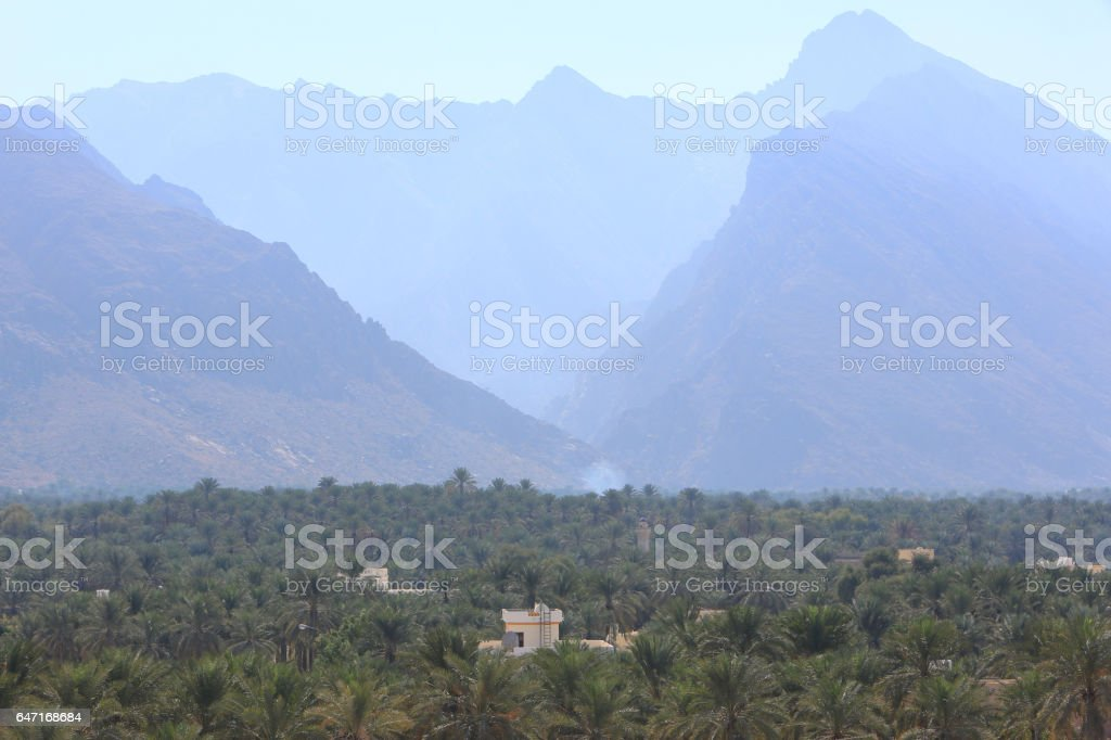 Nakhal oasis, Oman stock photo