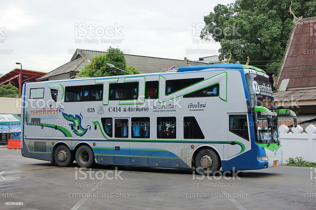 Nakhonchai tour company. Route Nakhon ratchasima and Chiangmai stock photo