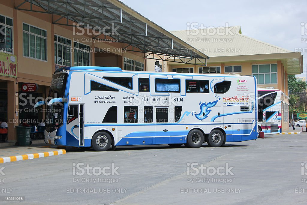 Nakhonchai tour company. Route Nakhon ratchasima and Maesai. stock photo