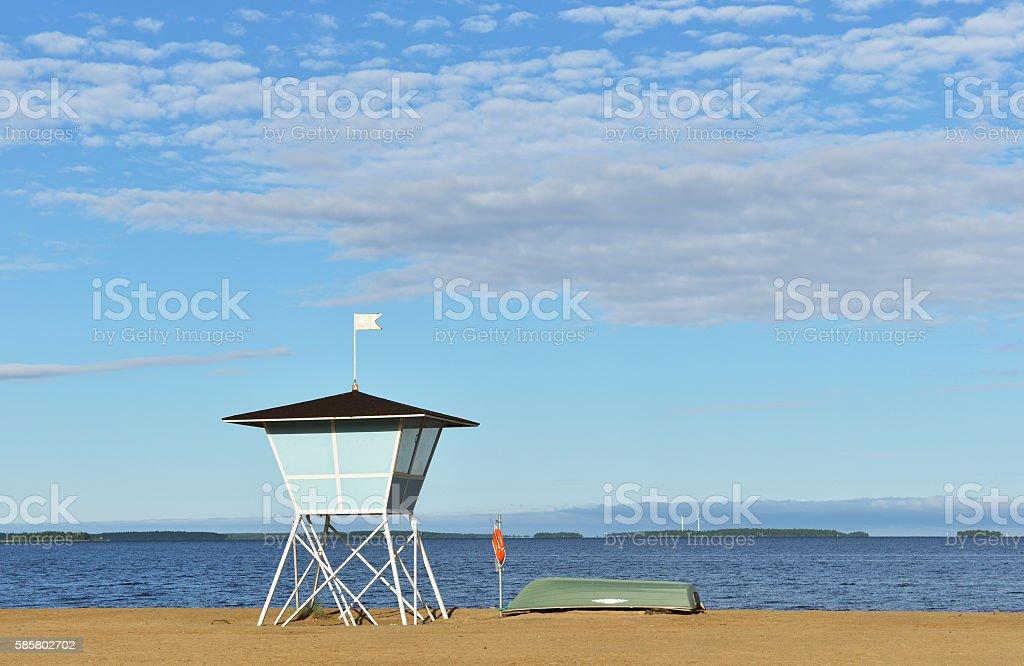 Nallikari beach, Oulu stock photo